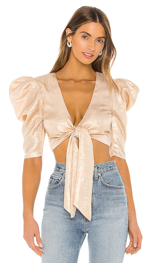 Lovers & Friends Solane Top In Nude