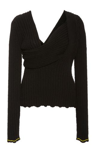 Bottega Veneta Square-neck Boucle Shirt In Black