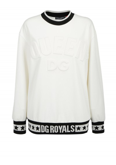 Dolce & Gabbana Sweatshirt In White