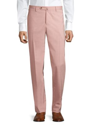 Pt01 Slim-fit Flat Front Trousers In Salmon