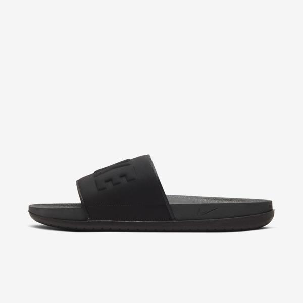 Nike Men's Offcourt Slide Sandals From Finish Line In Anthracite,black,black