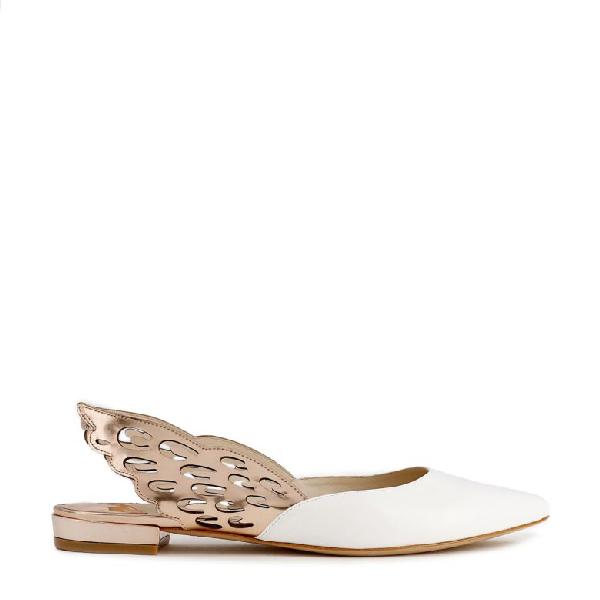 Sophia Webster Angelo Wing AppliquÉ Ballerina Shoes In White