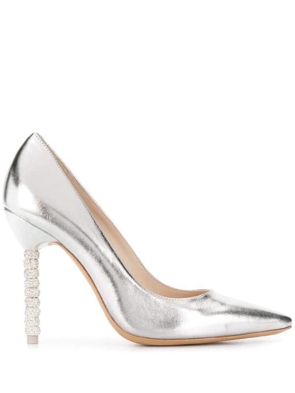 Sophia Webster Women's Coco Embellished Stiletto Pumps In Silver