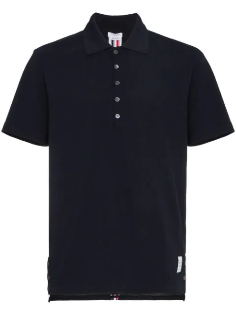 Thom Browne Short-sleeve Relaxed-fit Cotton Polo In Blue