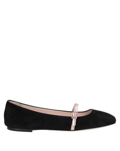Pollini Ballet Flats In Black