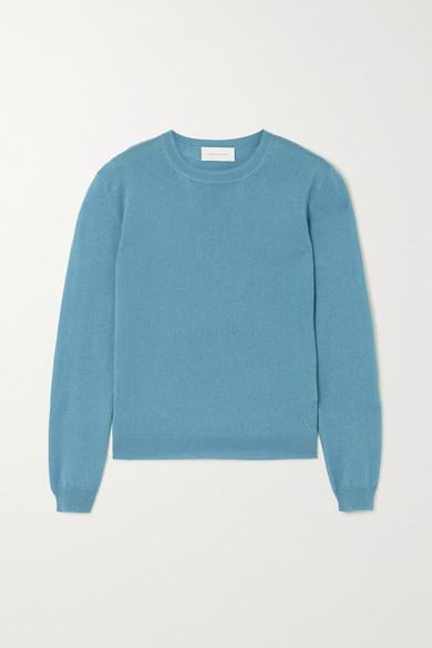 Alexandra Golovanoff Kawaï Cashmere And Silk-blend Sweater In Blue