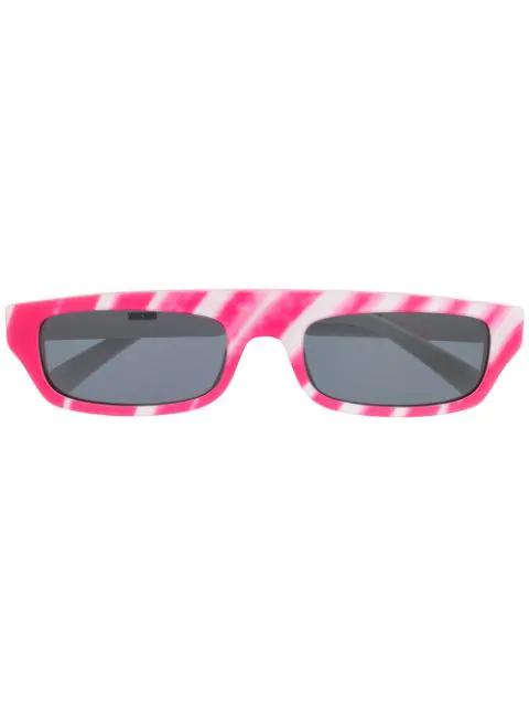 Moschino Eyewear Brushstroke Sunglasses In Pink
