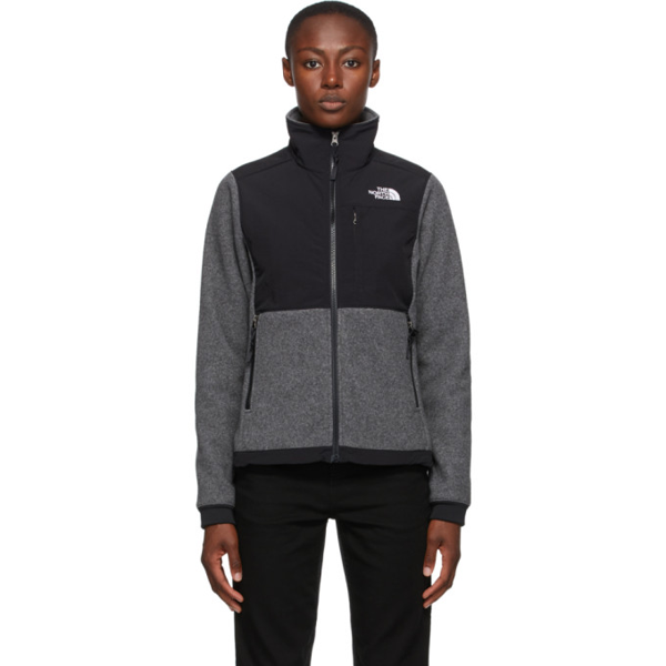 The North Face Black & Grey Denali 2 Sweater In Charcoal Grey