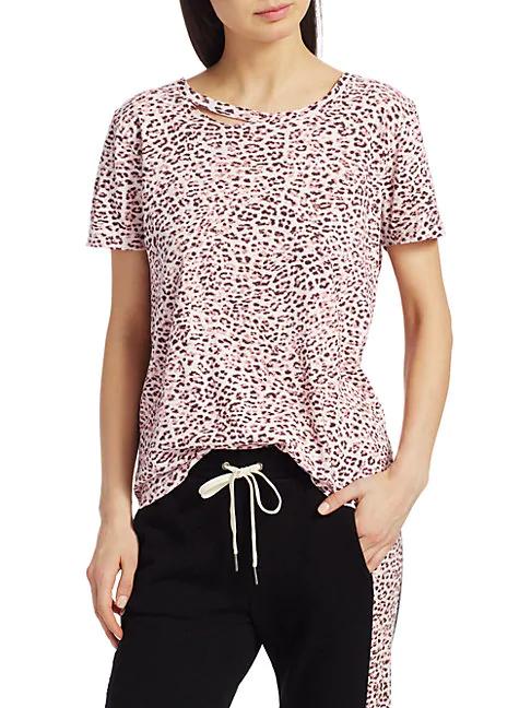 N:philanthropy Harlow Bff Leopard T-shirt In Blossom Leopard