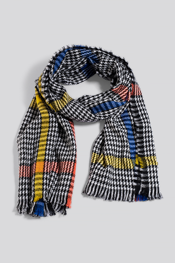 Na-kd Colorful Dogtooth Scarf - Multicolor In Mixed