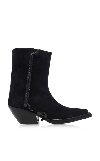 Acne Studios Suede Ankle Boots Black