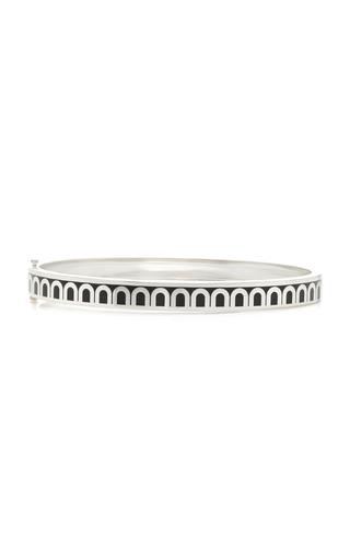 Davidor L'arc 18k White Gold Bracelet In Black