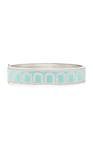 Davidor L'arc 18k White Gold And Diamond Bracelet In Blue