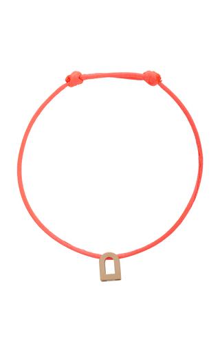 Davidor L'arc Voyage 18k Rose Gold And Silk Cord Bracelet In Pink
