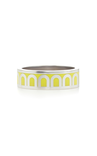 Davidor L'arc 18k White Gold Ring In Yellow