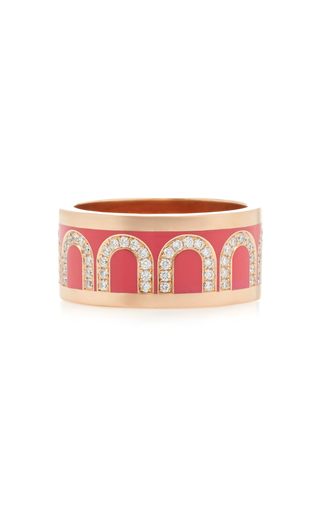 Davidor L'arc 18k Rose Gold And Diamond Ring In Pink