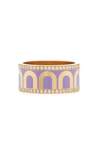 Davidor L'arc 18k Yellow-gold Ring In Purple