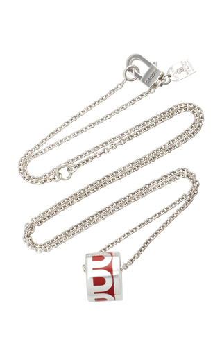 Davidor L'arc 18k White Gold Necklace In Red