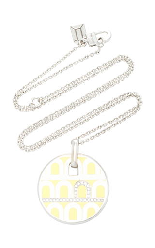 Davidor L'arc 18k White Gold Necklace In Yellow
