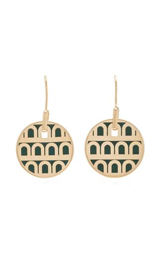 Davidor L'arc 18k Gold Earrings In Green