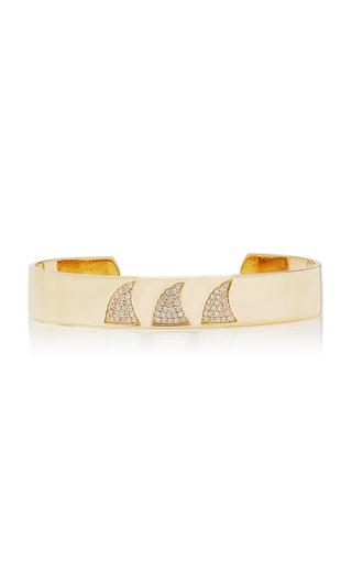 Ondyn Ondas 14k Gold And Diamond Cuff