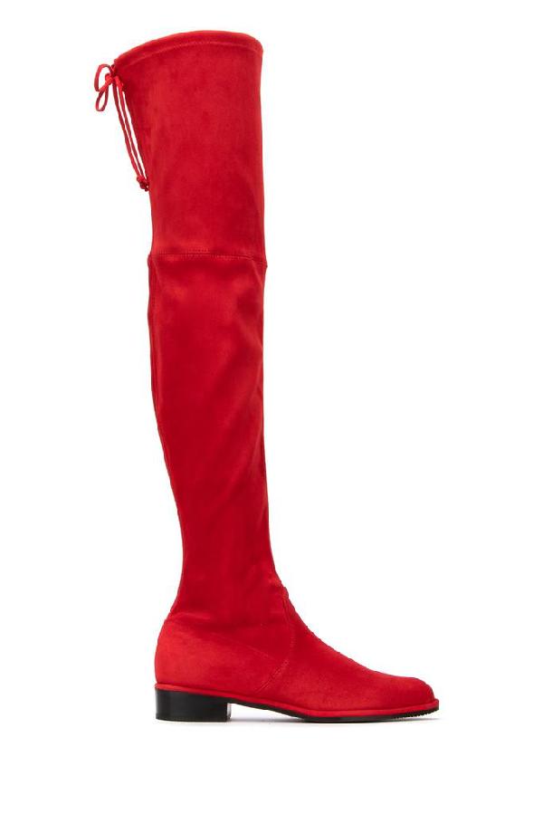 Stuart Weitzman Lowland Boots In Red