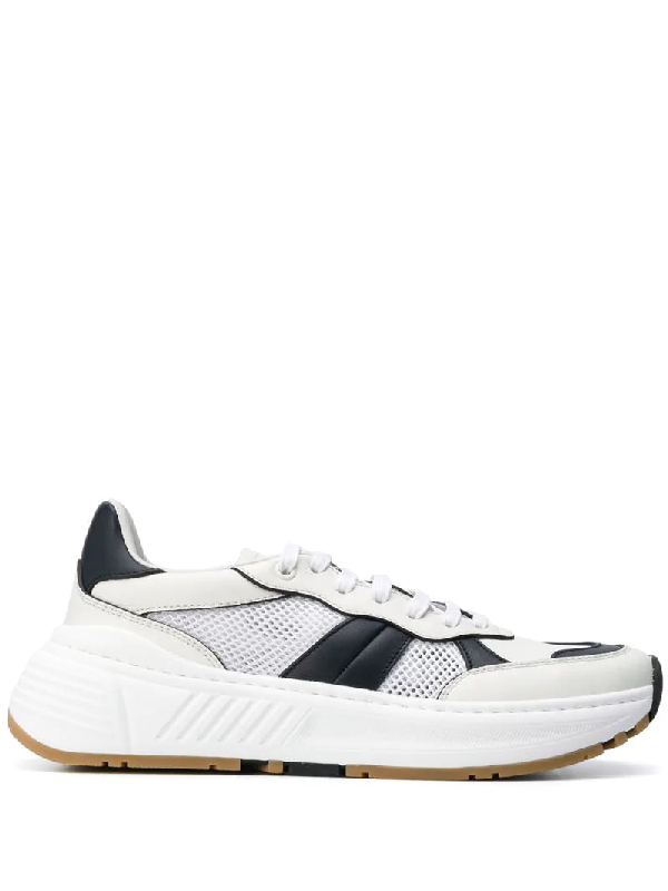 Bottega Veneta Speedster Leather And Mesh Sneakers In White