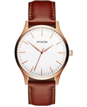 Mvmt The 40 Series White-dial Brown-strap Watch, 40mm In Natural