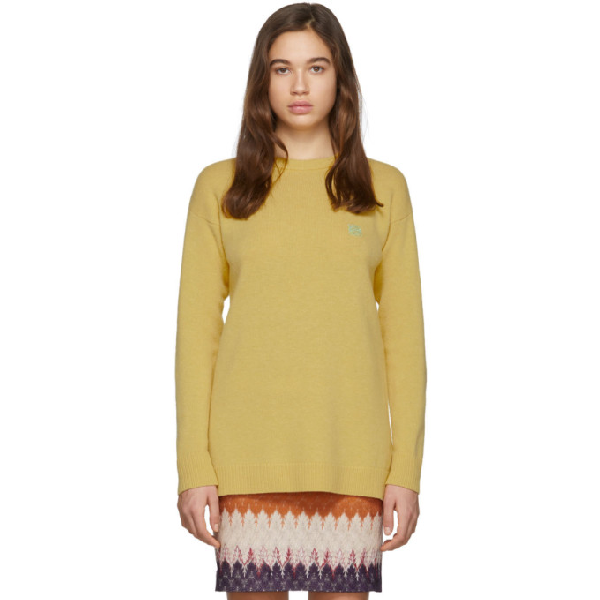 Loewe Anagram-embroidered Wool Sweater In 8000 Vanill