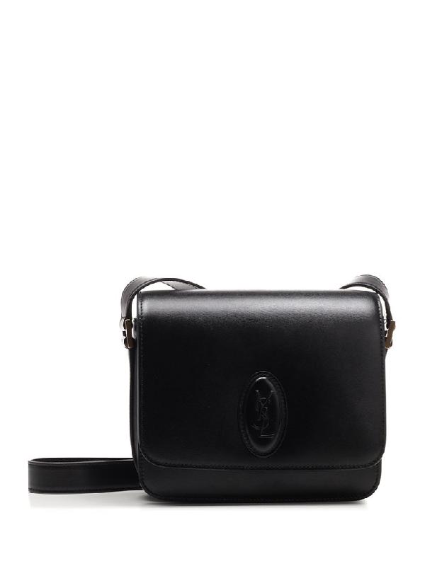 Saint Laurent Medium Saddle Shoulder Bag In Black