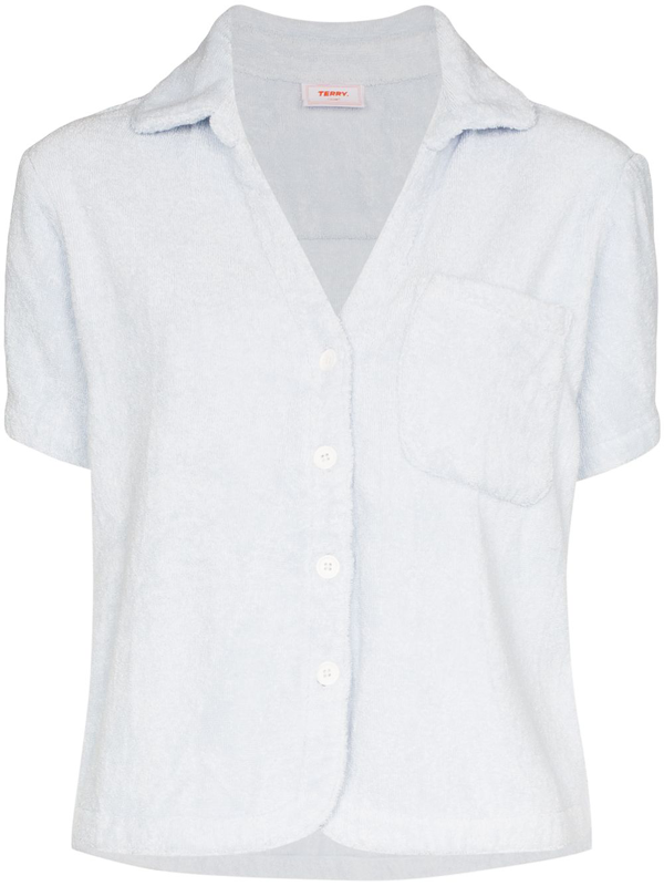 Terry Towelling Terry Cruise Cotton Shirt In Blue