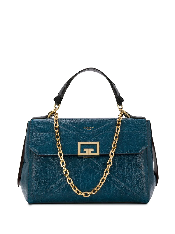 Givenchy Hanging Tag Detail Tote Bag In Blue