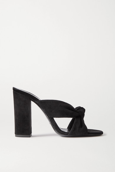 Saint Laurent Women's Loulou 100 Mule Sandals In Black