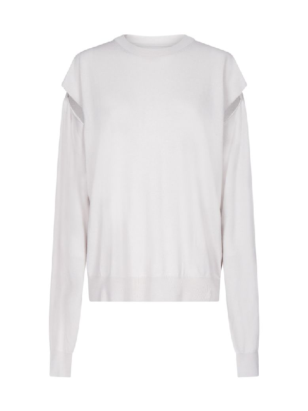 Maison Margiela Sweater In Ice White
