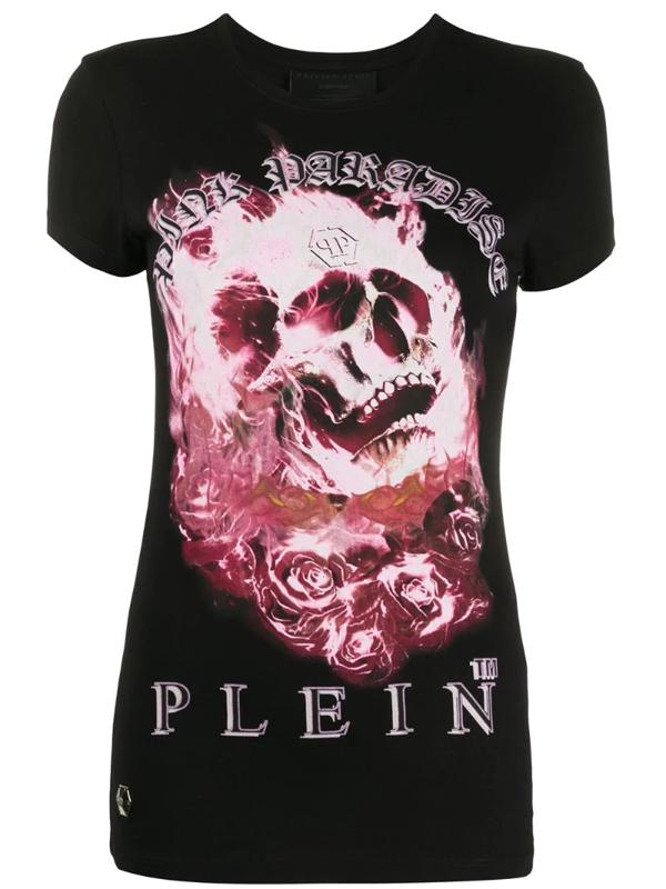 Philipp Plein Graphic Print T-shirt In Black