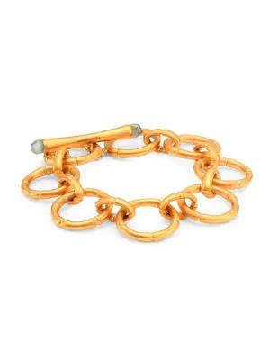 Dean Davidson Women's Bamboo Link Bracelet In Labradorite/ Gold