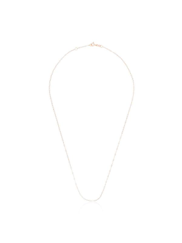 Gigi Clozeau 18k Rose Gold White Beaded Necklace In 50 White