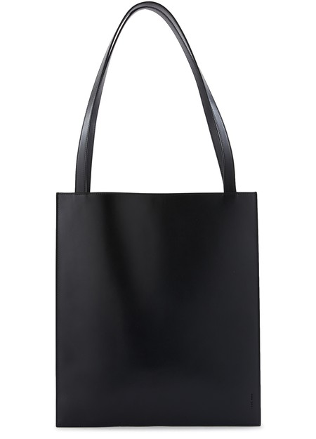 The Row Flat Tote Bag In Black