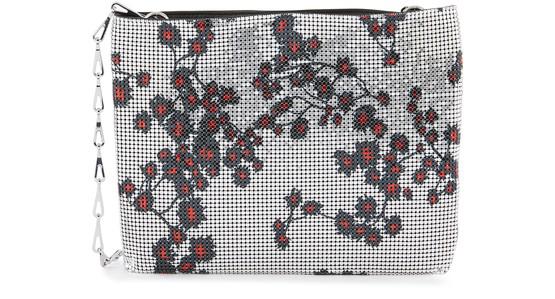 Paco Rabanne Sakura Pixel Bag In Silver Sakura