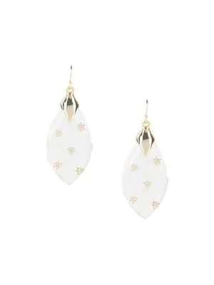 Alexis Bittar Women's Crystal-star Spiked Lucite Drop Earrings In Yellow Goldtone