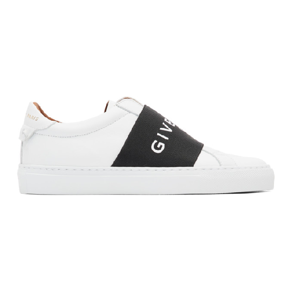 Givenchy Urban Street Logo-print Leather Slip-on Sneakers In 116 White