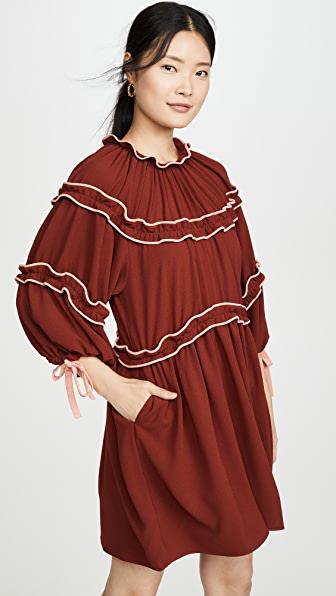 Hofmann Copenhagen Murielle Dress In Burnt Henna