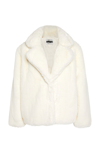 Apparis Billie Faux Fur Puffer Jacket In White