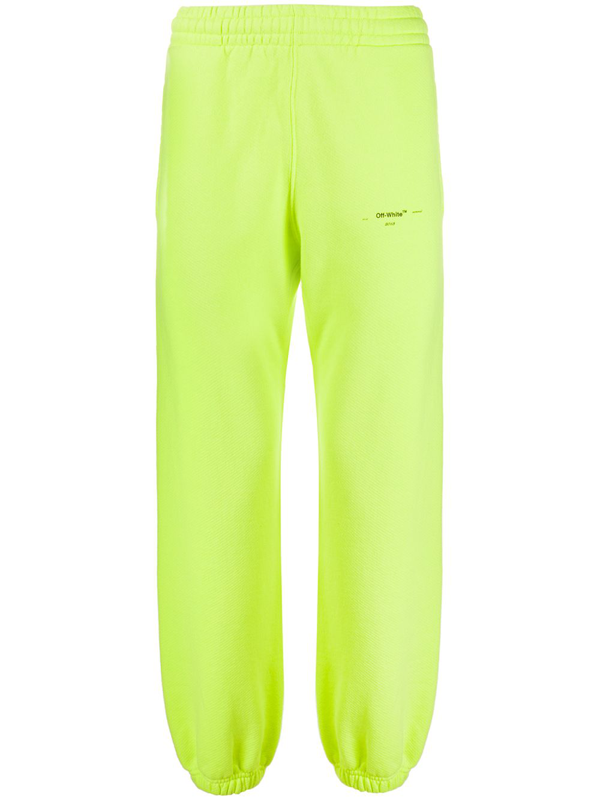 Off-white Small Printed Logo Track Pants In 黄色