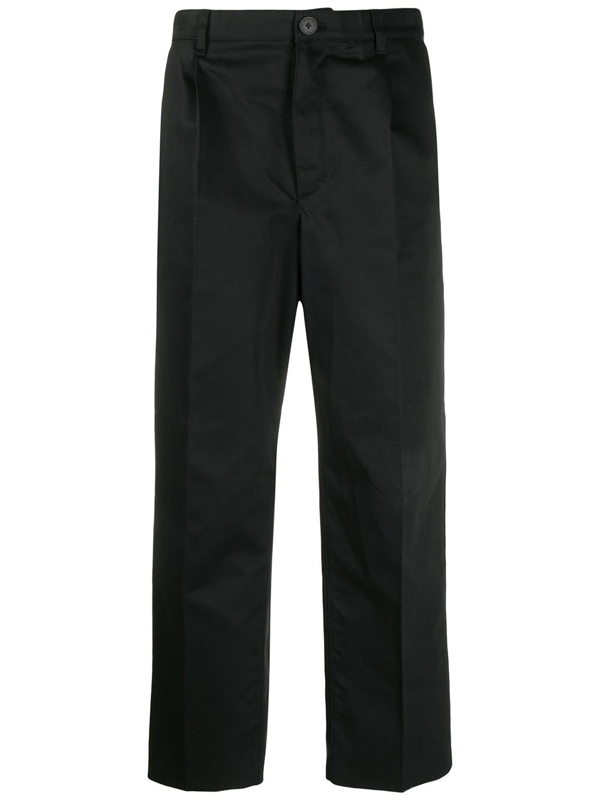 Givenchy Cropped Tailored Chinos In Black