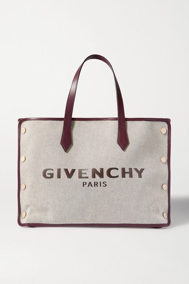 Givenchy Exclusive To Mytheresa – Bond Medium Canvas Shopper In Merlot