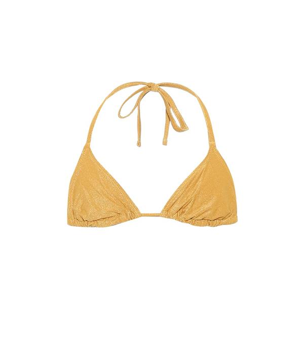 Solid & Striped The Iris Bikini Top In Yellow