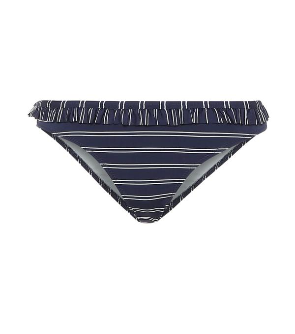 Solid & Striped The Millie Bikini Bottoms In Blue