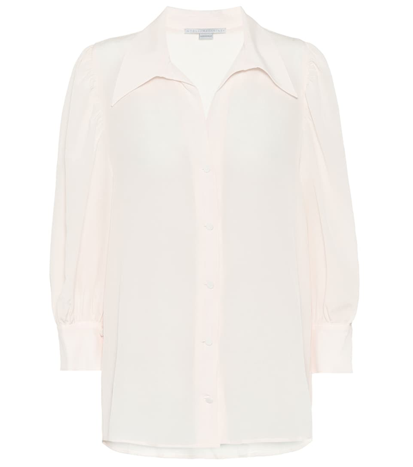 Stella Mccartney Silk Shirt In Neutrals