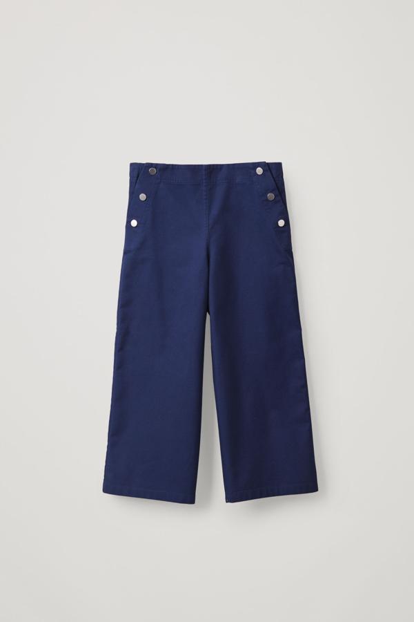Cos Kids' Cotton Sailor Pants In Blue